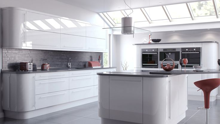 VIVO Contemporary or classic: the Vivo White door is a timeless design that can create any desired aesthetic. The use of pan drawers and curved doors provides a clean, sleek and exclusive look.
