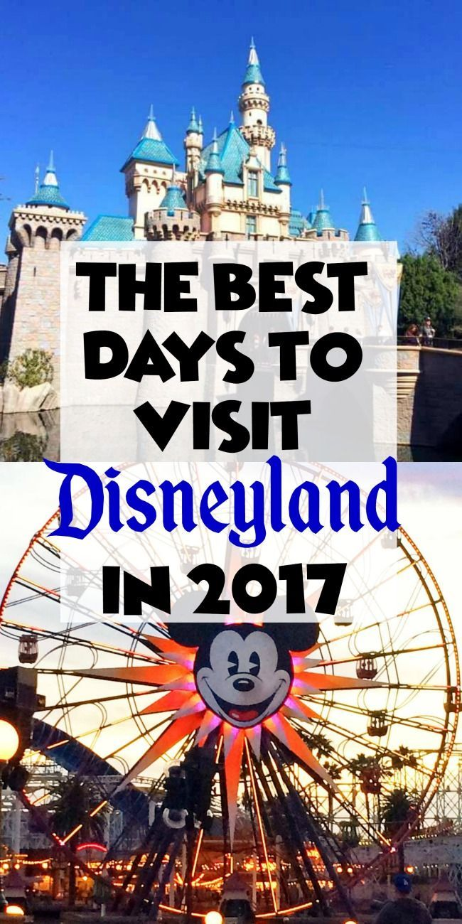 Know the Best Days to Visit Disneyland in 2017 by looking at the colorful crowd calendars for the Disneyland Resort!