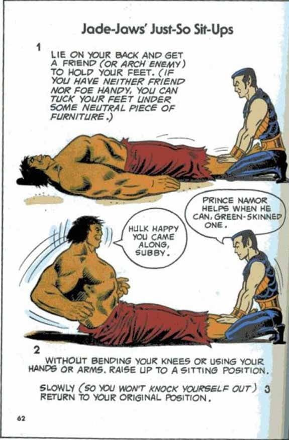 10 Bizarre Vintage Marvel Heroes Teaching Callisthenics - BuzzFeed Mobile