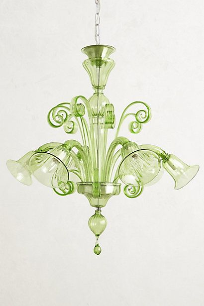 Murano Glass Chandelier from Anthropologie. Holy moly do I love this!