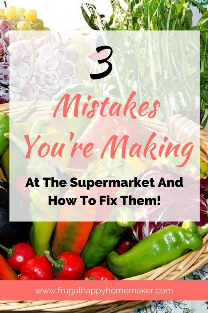 Are you making these 3 big mistakes at the supermarket? I can help you fix them so you start saving time and money.