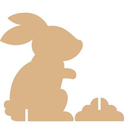 mdf pasen - Google zoeken bunny silhouette