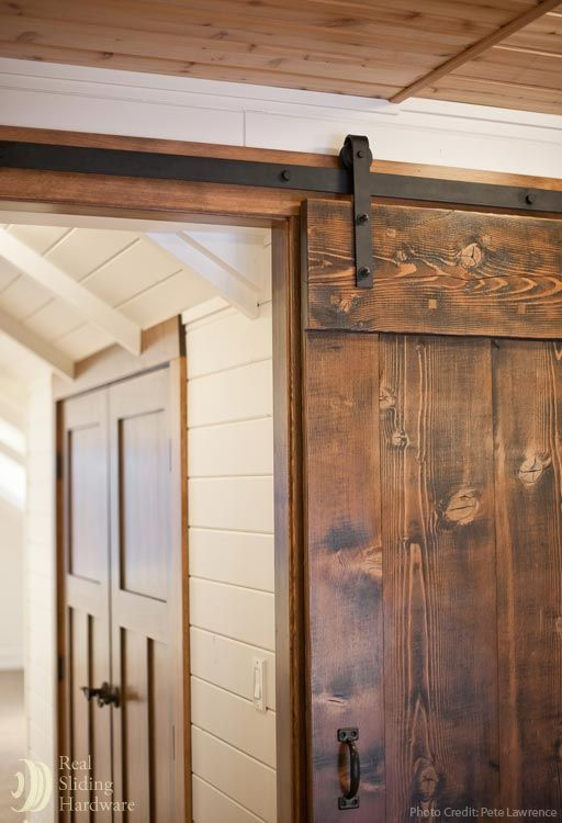 Barn Door Hardware photo gallery page. Sliding hardware in stainless steel, oil rubbed bronze, and black finishes.