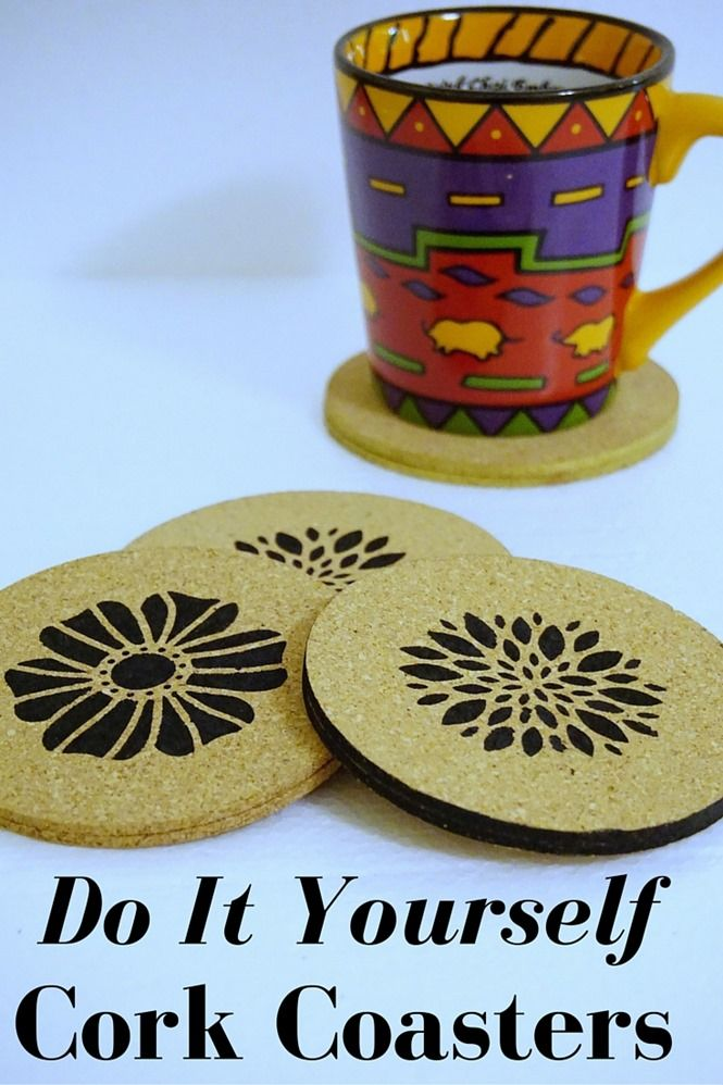 Don't spend a ton of money on coasters when you can make your own! This DIY cork coaster craft features cute stencil designs and it super easy to make.