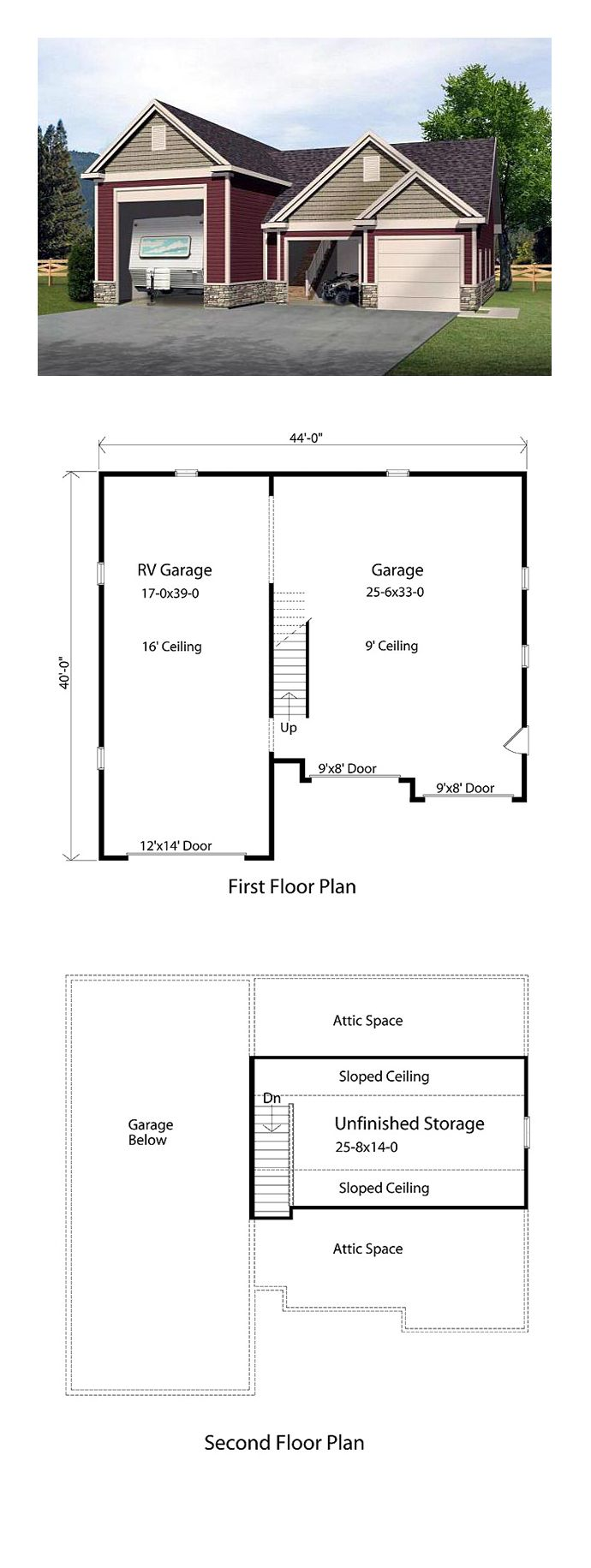 27 Best 3 Car Garage Plans Images On Pinterest