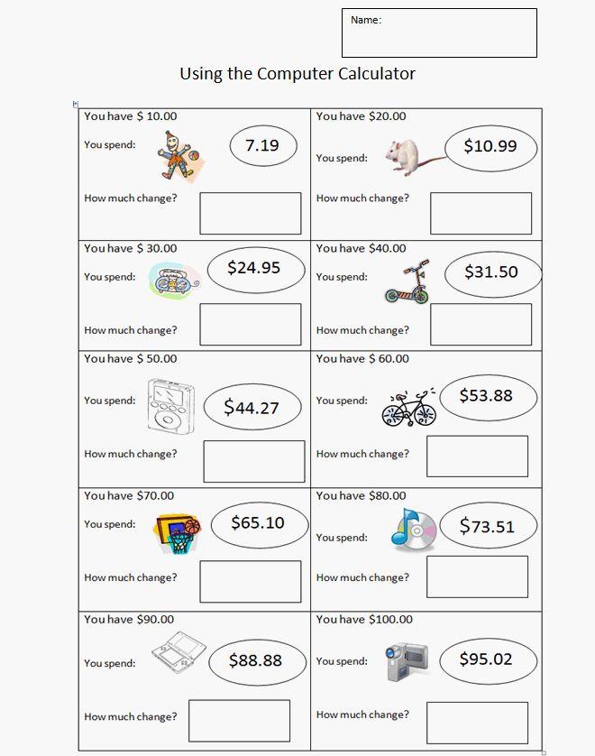 third grade money worksheet k 5 computer lab technology lessons math class pinterest. Black Bedroom Furniture Sets. Home Design Ideas