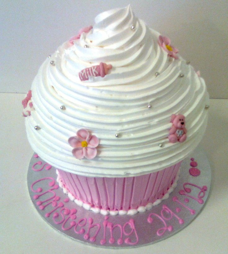 Giant Christening cup cake - Sargent's Cakes