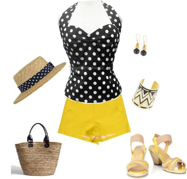 """Polka dot"" by yiannab on Polyvore"