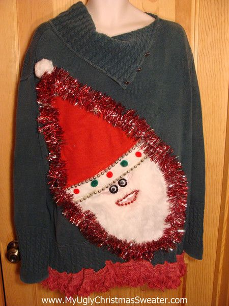 Plus Size Christmas Sweater with Santa