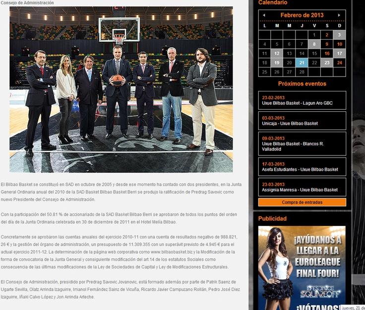 Consejo de administracion del Bilbaobasket.