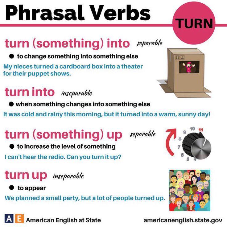 Phrasal Verbs ; turn