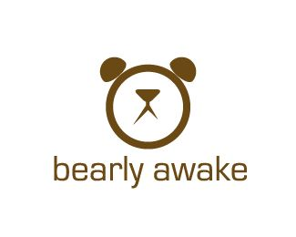 35 Beautiful Examples Logo Designs Inspired By Clock | Design Inspiration Another favorite. It's so simple. The bears face but also looks like an alarm clock. The color brown and the fonts all work and it helps make this a good design.