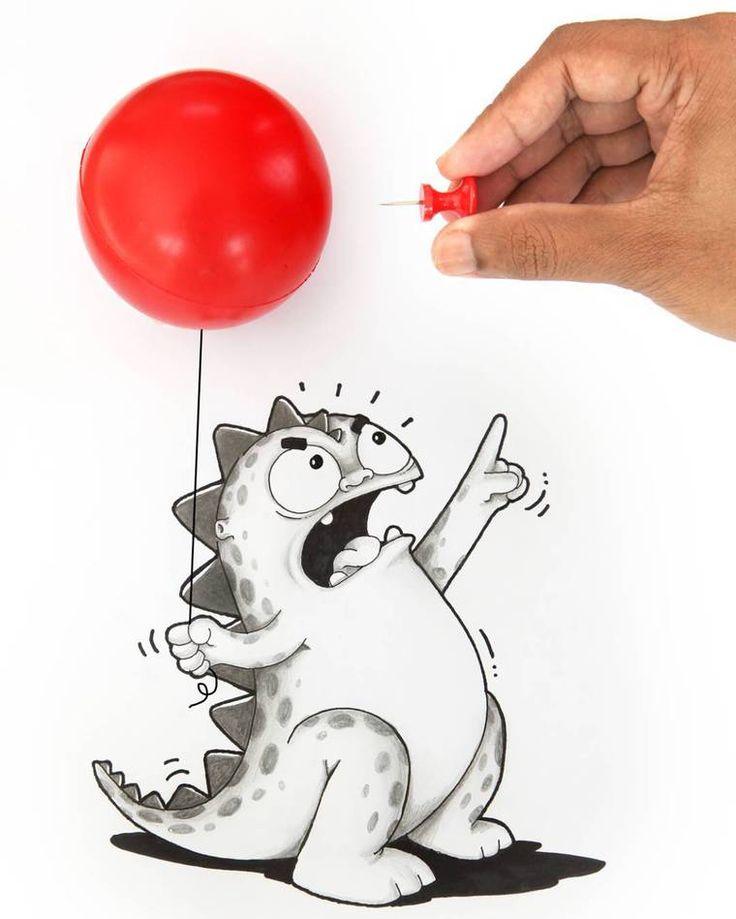 O ilustrador que vive em Bangladesh, Manik N Ratan, está agora com sua nova série de ilustrações Real Life Doodles, onde o artista ilustra seu personagem adorável, um pequeno dinossauro, em situaçõ…