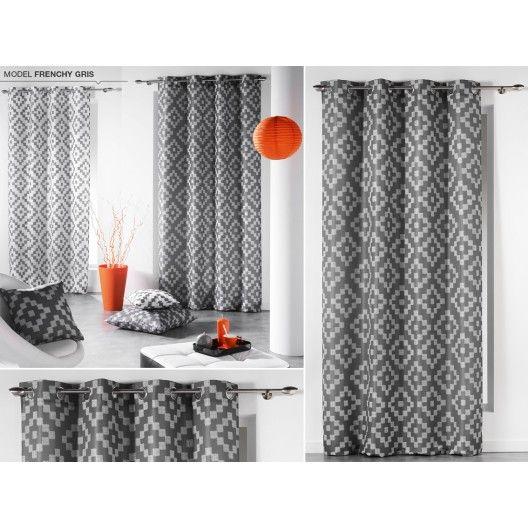 Okenné škandinávske závesy sivo bielej farby so vzorom