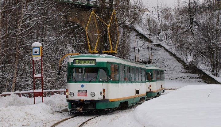 This trams CKD T2 is last of its kind in regular operation in Europe!