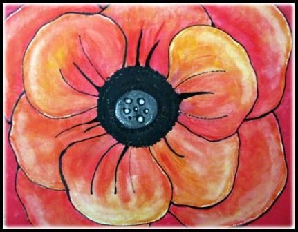 Georgia O'Keeffe Oriental Poppy Portrait of Georgia O'Keeffe Below is Oriental Poppy in acrylics. My mixed class of 3rd, 4th and ...