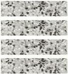 .== Terrazzo-Sockelleisten == Bei der Verlegung von Terrazzoplatten für den Fußboden, werden anschließend meist Terrazzo-Wand-Sockelleisten (30 x 7,5 x 1,2cm) im Übergangsbereich zwischen Fußboden und Wand verlegt. Es gibt sie in den Dekoren LINDA (sw-ws-grau), STELA (sw-ws) und DIANA (sw-ws-rot), die in den neuen Bundesländern weit verbreitet sind.  == terrazzo-sockelleisten, bodenfliesen, terrazzo fliesen, zement fliesen, terrasse, balkon, innen, außen ==