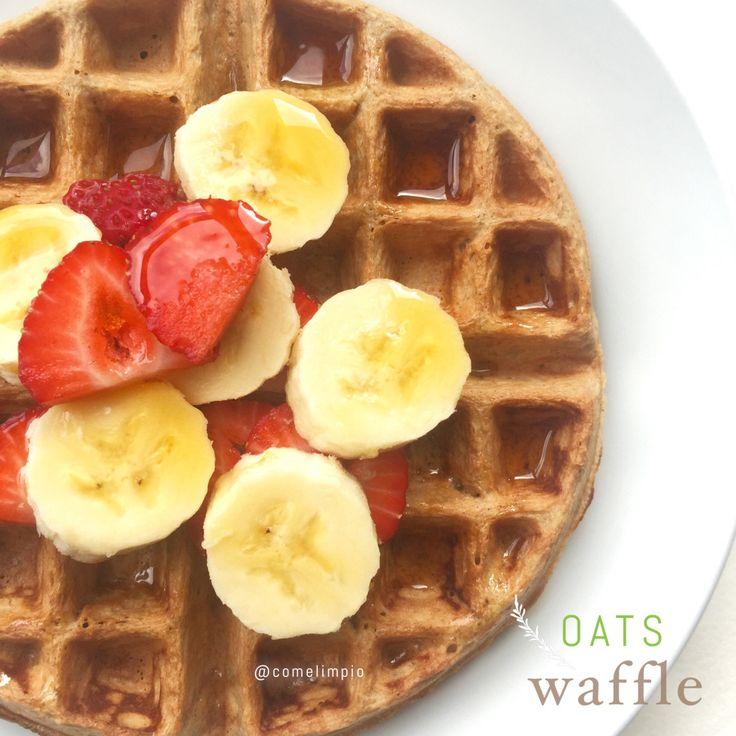 {Receta} Waffles de Avena