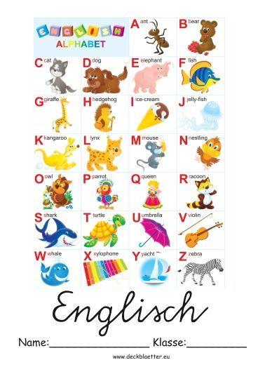 Deckblatt Englisch Grundschule