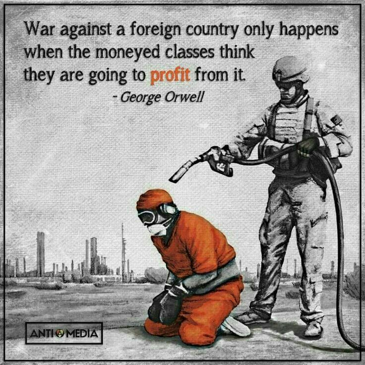 Think about and research who's profiting from the wars we wage.  Then you can decide who is actually behind the instigation of war. Who wants consent for that war from the public,.......which is you! ♠️