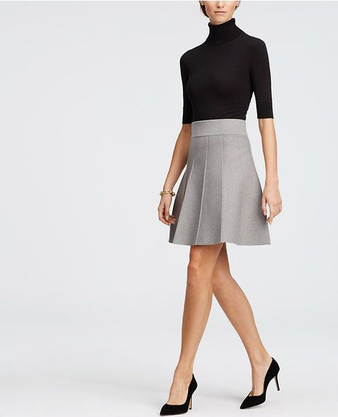Primary Image of Petite Pleated Sweater Skirt