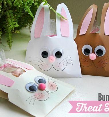 DIY easter bunny envelope treat bags / Húsvéti nyuszis ajándék tasakok…