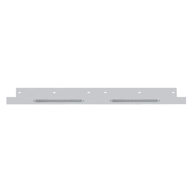 Kenworth Lower Grill Trim w/ LED Reflector Light Bar - Amber LED/Clear Lens