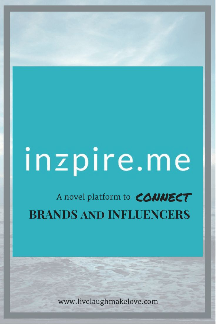 INZPIRE.ME  A novel platform to CONNECT Brands and Influencers. Sign up today!