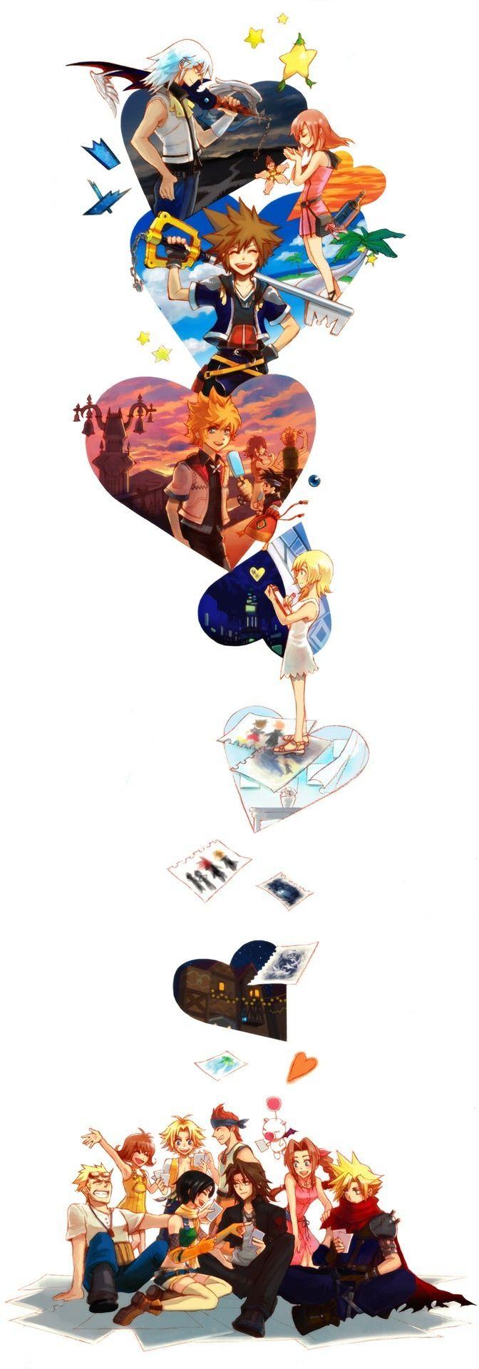 Uma boa e complexa história.. Ótimos personagens, momentos e  amizades incríveis que são inesquecíveis!.. Esse é Kingdom Hearts! <3