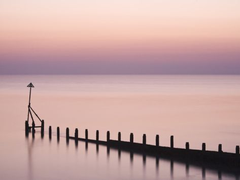 Selsey Bill at Sunset, Selsey, West Sussex, England, United Kingdom, Europe Photographic Print by Jean Brooks at Art.com