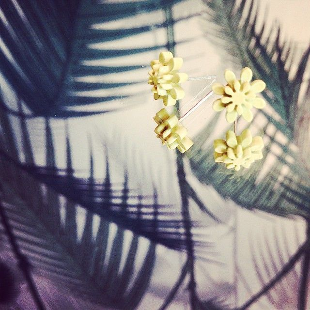 #danishdesign #juju #wearjuju #plexiglasjewelry #plexiglas #soontobuyonline #neon #yellow #tiny and #cute