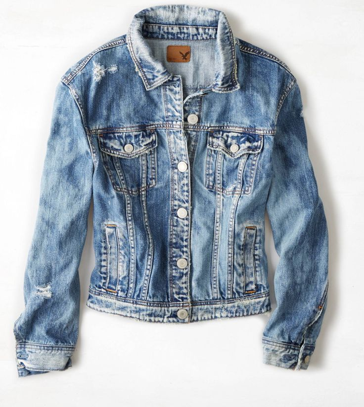 Medium Wash AEO Denim Jacket