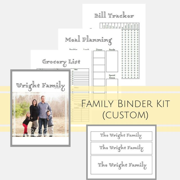 Custom Binder Printables for Busy Moms, Home Management, Personalized Binder, Grocery, Meal Planner, Budget Printables, Organizer Printable by MyBudgetBlueprint on Etsy