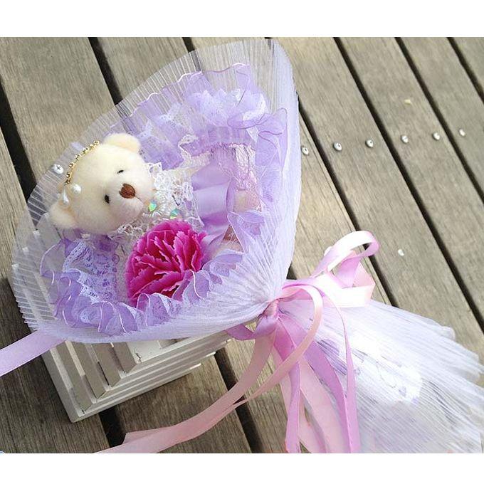 Mother's Day Carnation Single Teddy Bear Cartoon Bouquet Christmas ...
