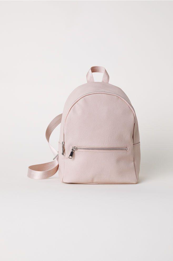 mini sac a dos cuir rose