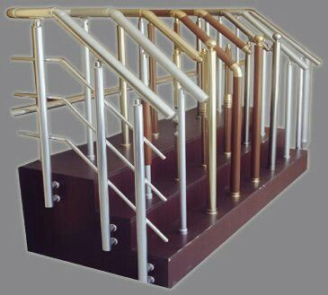 Aluminium Balustrade Handrail With Different Colars