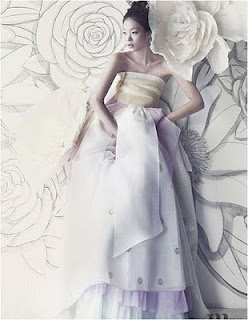 fusion hanbok wedding dress