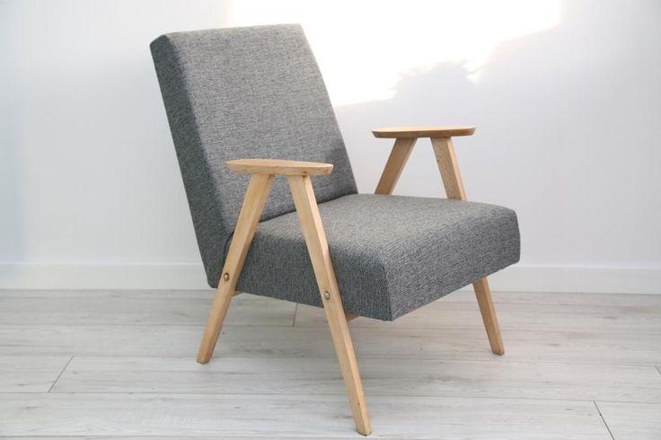Fotel b-310 PRL design loft skandynawski (5795315839) - Allegro.pl - Więcej niż…