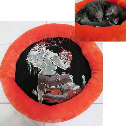 Cannibal Corpse Band Shirt Cat Bed DIY Death Metal