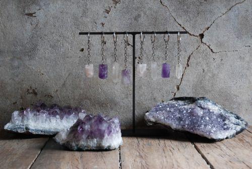 Crystal Keychains, Amethyst, peaceful ranch