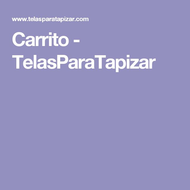 Carrito - TelasParaTapizar