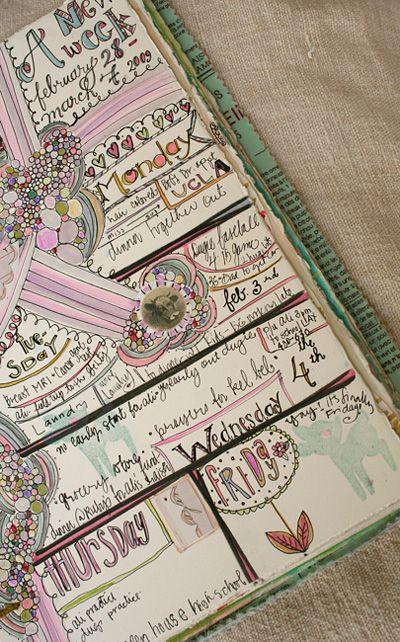 Art Journal Calendar Pages : Best art journaling kids images on pinterest