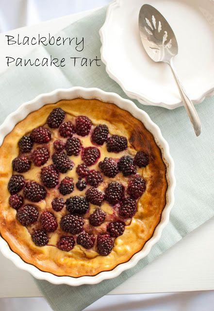 Blackberry Pancake Tart