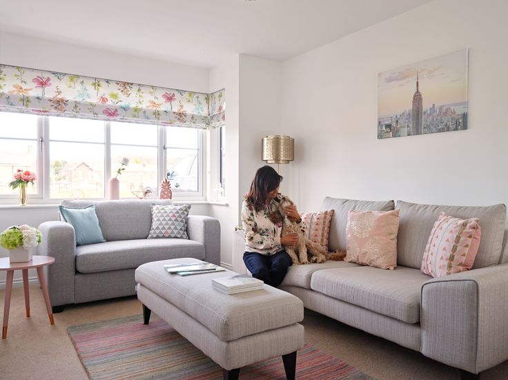 The living room is the perfect family space – is light and bright, but super cosy in the evenings when the whole family get together to relax and spend time together. Buddy the dog also gets involved – on his special blanket of course   #mydfs