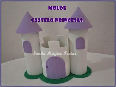 Sonho Mágico Festas: Molde Castelo de eva