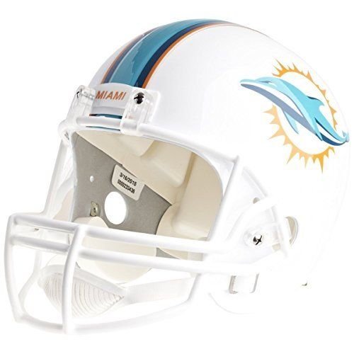 NFL Miami Dolphins Deluxe Replica Helmet by Riddell. NFL Miami Dolphins Deluxe Replica Helmet. Medium.