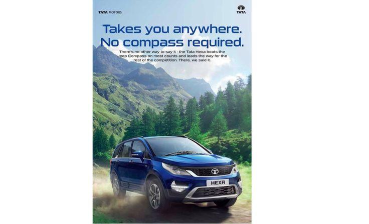 #TataMotors takes a dig at the newborn #JeepCompass http://indianautosblog.com/2017/08/tata-hexa-takes-dig-at-jeep-compass-276569?utm_content=buffer89b4d&utm_medium=social&utm_source=pinterest.com&utm_campaign=buffer