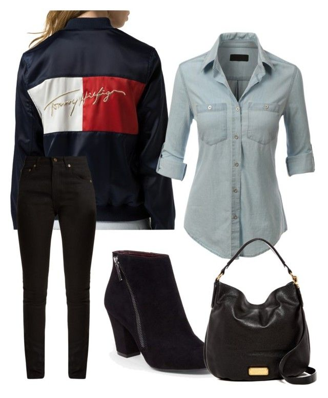 """""""Untitled #23"""" by devih on Polyvore featuring Tommy Hilfiger, LE3NO, Yves Saint Laurent, BCBGeneration and Marc by Marc Jacobs"""