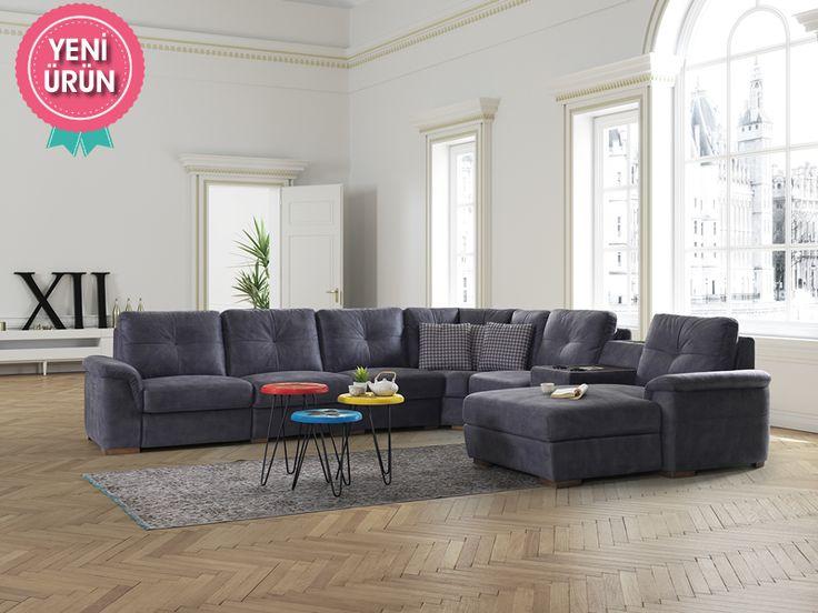 Sönmez Home | Modern Köşe Takımları | Zenon Corner Köşe Takımı #Modern #Furniture #Mobilya #Köşe #L #Koltuk #Takımı #Sönmez #Home #EnGüzelAnlara #EnzaHome #YeniSezon #KöşeTakımı #Home #HomeDesign  #Design #Decoration #Ev #Evlilik #Wedding #Çeyiz #Konfor #Rahat #Renk #Salon  #Çeyiz #Kumaş #Stil #Tasarım #Furniture #Tarz #Dekorasyon