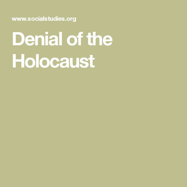 Denial of the Holocaust